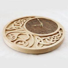 Wooden Industrial Wall Clock Unique Cog Clock
