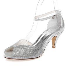 Femme Chaussures Polyuréthane Printemps Eté Confort Talon Bas Bout ouvert pour Mariage Habillé Soirée & Evénement Argent de 2018 ? €37.84