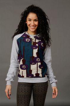 SoTribal Ankara Sweatshirt africains Wax Print par SoTribal