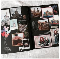 Scrapbook Da Disney, Travel Scrapbook, Photo Album Scrapbooking, Scrapbook Albums, Scrapbook Photos, Couple Scrapbook, Scrapbooking Ideas, Bullet Journal Ideas Pages, Bullet Journal Inspiration