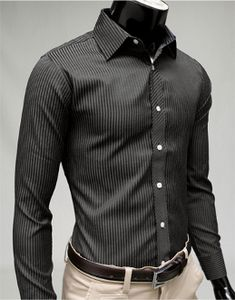 Men's Long Sleeve Tonal Stripe Shirt