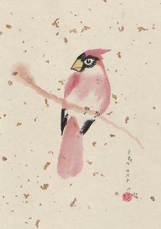 Original Chinese brush painting/SumiE  Cardinal  by corlista