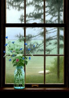 Rainy Day by Alexander Volkov #Photography #Flower #Window