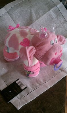 Diaper Cake - Diaper Cow - Baby Shower Gift. $17.00, via Etsy.