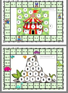 Numeracy Activities, Hands On Activities, Math Coloring Worksheets, Second Grade Math, Review Games, School Readiness, Math Facts, Addition And Subtraction, Brain Teasers