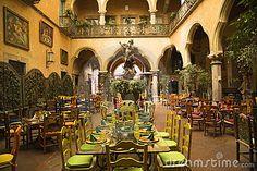 Mexican Courtyard Restaurant Queretaro Mexico