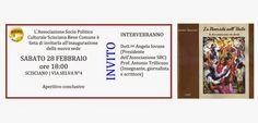 """ANTONIO TRILLICOSO: INAUGURAZIONE SEDE ASS. SBC E PRESENTAZIONE DE """"LA DIVERSITA' NELL'UNITA' la discriminazione che divide"""""""