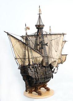 Model Sailing Ships, Model Ships, Model Ship Building, Boat Building, Steampunk Machines, Old Dragon, Black Pearl Ship, Boat Art, Whitewater Kayaking