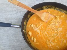 This healthy and quick meal is perfect for busy school nights. Find the recipe here.Key Trader Joe's Ingredients:— TJ's Thai Red Curry Sauce— TJ's Coconut Cream— TJ's Fresh Rice Noodles