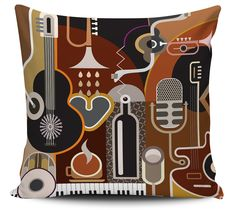 Almofadas Decorativa Cafe Music