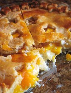 Peach Cream Cheese Pie | foodgio