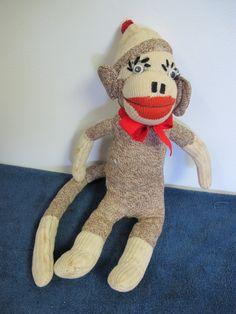 """Sock Monkey Handmade Vintage 17""""   eBay"""