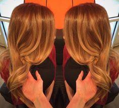 Golden & Auburn hair