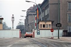 Berlin, the crossing point for West Berliners going to East Berlin on Invalidenstraße, 1985