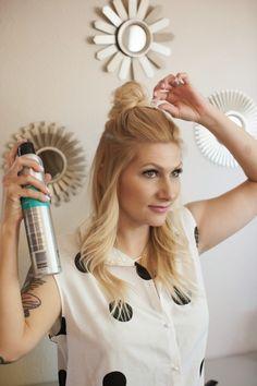 Trend Alert! How to: Half Up Top Knot #DIY