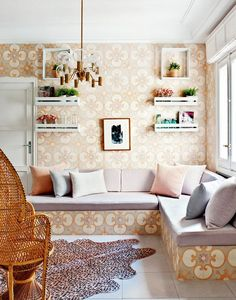 Playful feminine apartment design