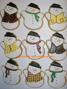 Another wonderful snowman cookie design!