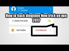Unlimited Credit Hack Dingtone and Talku talku and Dingtone 2017 New Tricks, Hacks, App, Youtube, Apps, Youtubers, Youtube Movies, Tips