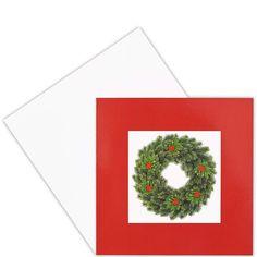 CARD Kranz    Traditionelle Weihnachtsmotive in hochwertiger fotografischer Umsetzung - da kommt festliche Stimmung auf. Die Klappkarten sind innen blank, ein passender Umschlag gehört dazu. Wählen Sie aus verschiedenen Winter- bzw. Weihnachtsmotive Ihre persönlichen Favoriten.    Größe: Breite 12,4 x Höhe 12,8 cm...