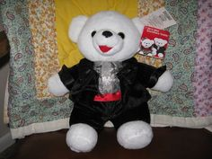 "2012 Walmart Christmas Snowflake Teddy Bear 13"" Boy New w T Valentines Day 