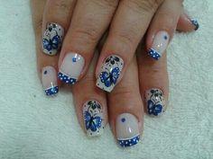 Uñas Gel Designs, Toe Nail Designs, Acrylic Nail Designs, Acrylic Nails, Hair And Nails, My Nails, Easter Nail Designs, Nail Envy, Blue Nails