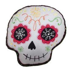 Halloween Shaped Skull Throw Pillow