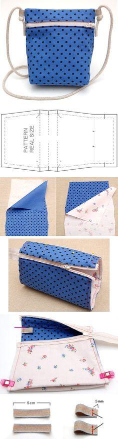 How To Sew Kid-sized Messenger Bag. Pattern & Photo Tutorial http://www.handmadiya.com/2016/02/kid-sized-messenger-bag.html