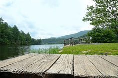 The powerful beauty of the lake and mountains at Douthat State Park in Virginia is evident even from the boat launch
