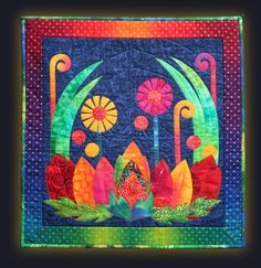 Kitambaa Designs by Pippa Moore Tree Quilt, Quilt Art, Contemporary Fabric, Textiles, Rainbow Colors, Bright Colours, Textile Artists, Deco, Quilt Blocks