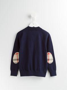 Burberry Kids Camisa polo de algodão