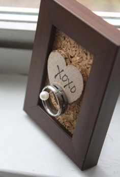 Wedding Ring Holder. So nice to have one of these in the kitchen! by pam