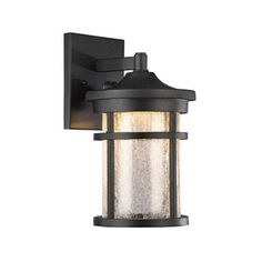 Shop for Chloe Transitional 1-light Black LED Outdoor Wall Lantern. Get free delivery at Overstock.com - Your Online Garden