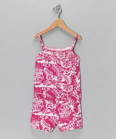 Take a look at this Raspberry Floral Romper - Toddler & Girls by Star Ride Kids: Dresses & Rompers on #zulily today!