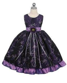 Purple flower girl dress?