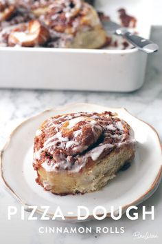 Pizza-Dough Cinnamon Rolls. An easy way to cure your sweet tooth in the mornings with a delicious breakfast.