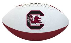 NCAA South Carolina Tailgater Football by Licensed Products. $16.95. Junior Size Playable Football - 10-Inches. Designed With Team Colors and Primary Logo. Packaged With Black Kicking Tee. Stitched Rubber Material For Ease In Throwing & Catching. Each football's playable pebble design is inspired by the helmets the teams wear on the field - bringing the action closer to the backyard or park than ever before!