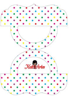 Colored Polka Dots: Free Printable Candy Bag Label.
