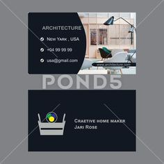 Architectures business card design - Stock Illustration | by tools4210
