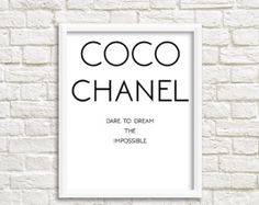 """This is my favorite fashion quote by the wonderful Coco Chanel The best things in life are free. The second best are very expensive."""" This is beautiful Chanel home decor instant download print with Coco Chanel logo and it is a very chic and timeless addition to your beautiful home. This is the ultimate Chanel decor for every modern home. Decorate your home with this Chanel art print or style your office using this Chanel poster as a chic addition to your home decor.  Print it as many times…"""