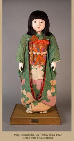 Miss Fukoshima Japanese Friendship Dolls - Art in Focus - Antique Japanese Dolls