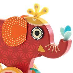 #Djeco Indy olifant trekdier #pullalongtoy #kids #babymusthave #toys  #littlethingz2