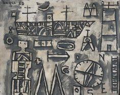 Sin título   Gonzalo Fonseca (1922-1997), 35 x 43 cm, 1950   Ubicación: Museo Nacional de Artes