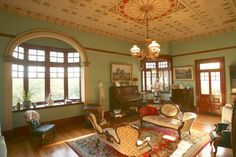 The lounge room of Patricia Bradley's lovingly restored Federation house.