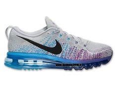 Boutique Officielle Nike Flyknit Air Max Chaussures Pour Homme Gris - bleu  - violet l620469-