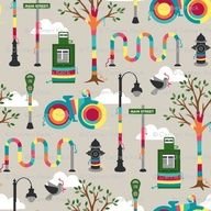 Yarnbombing fabric from Spoonflower