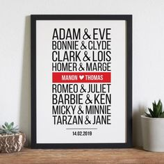 Personalized poster Famous Couples Modern Valentine's Day is considered amongst my most loved occasions to share with my spouse and children and distinct f Diy Valentine Gifts For Boyfriend, Valentines Design, Valentines Gifts For Boyfriend, Homemade Valentines, Boyfriend Gifts, Valentine Day Gifts, Boyfriend Ideas, Saint Valentine, Be My Valentine