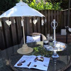 Even relaxen in de tuin tussen twee behandelingen!