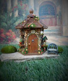 Fairy house/ Fairy Garden House/Outdoor Fairy by TheHealersGarden