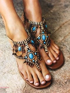blue beads sadals