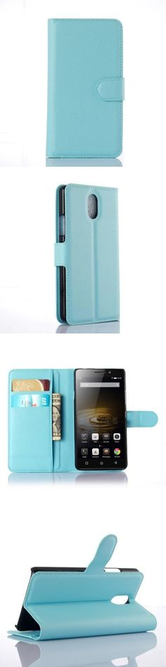 Solid Color Litchi Pattern Wallet Style Front Buckle Flip PU Leather Case with Card Slots for Lenovo Vibe P1m -$6.34